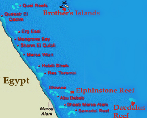 BDE(Brother's-Daedalus-Elphinstone)<br>6 Days / 7 Nights<br>From Marsa Alam